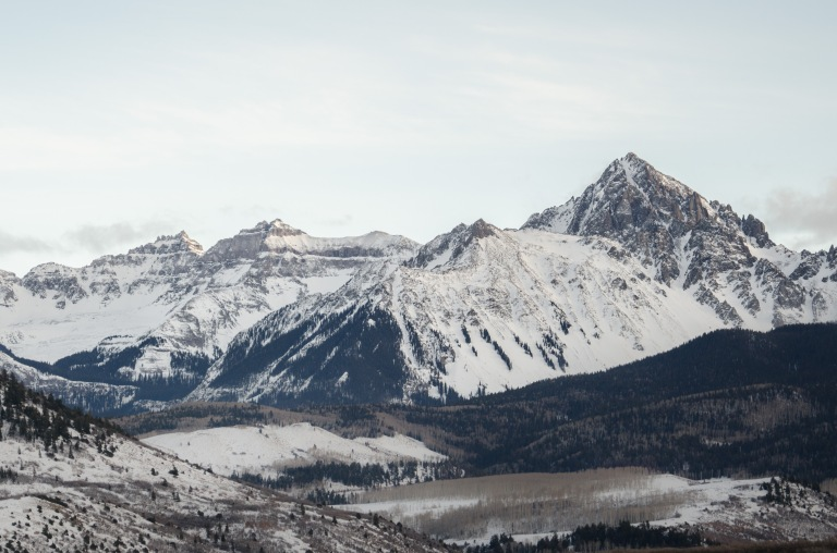 Mt. Sneffels on the left