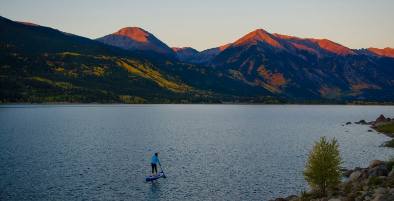 First light on Twin Lakes. Photo: Jason Gebauer Photography